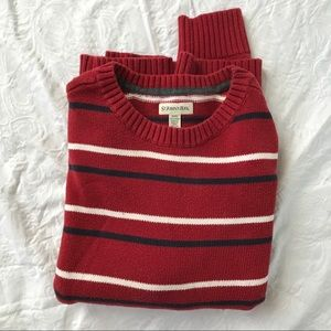 St John's Bay red striped sweater